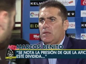 El enfado de Sandoval al ser preguntado por la división del Rayo
