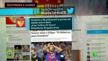 El Santa Teresa invita a un partido a Luis Suárez