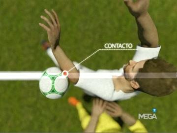 La mano de Sergio Ramos fue dentro del área