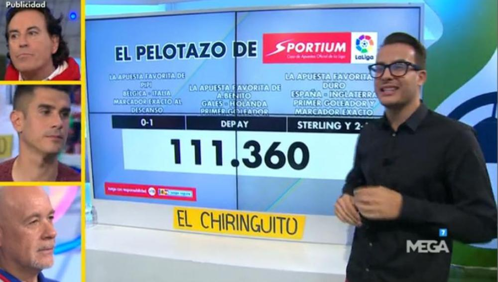 Juanfe Sanz con El Pelotazo de Sportium