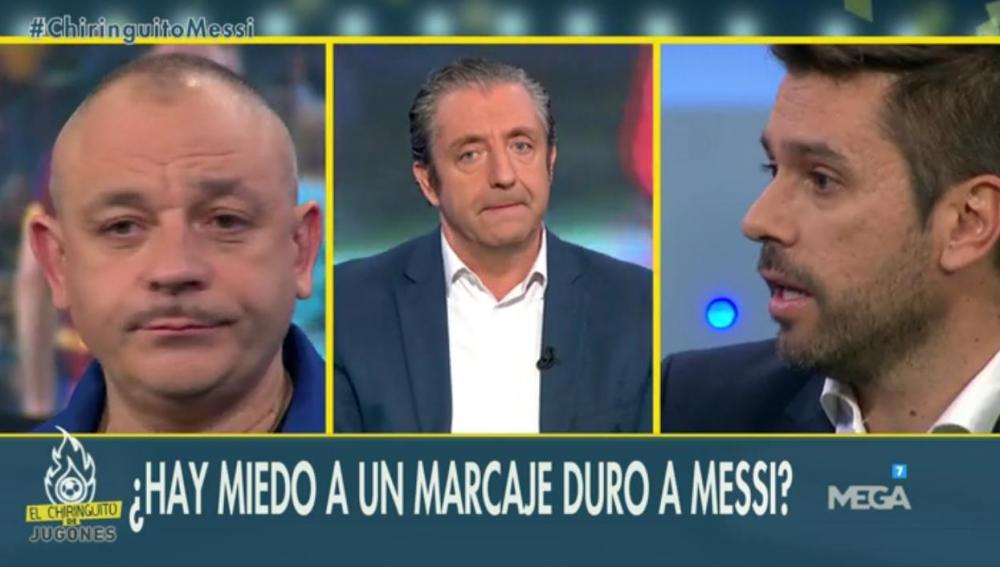 Roberto Morales, Josep Pedrerol y Frèdèric Hermel