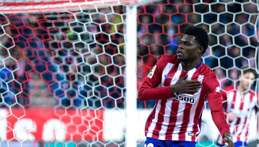 Thomas celebra su gol ante el Levante en el Calderón