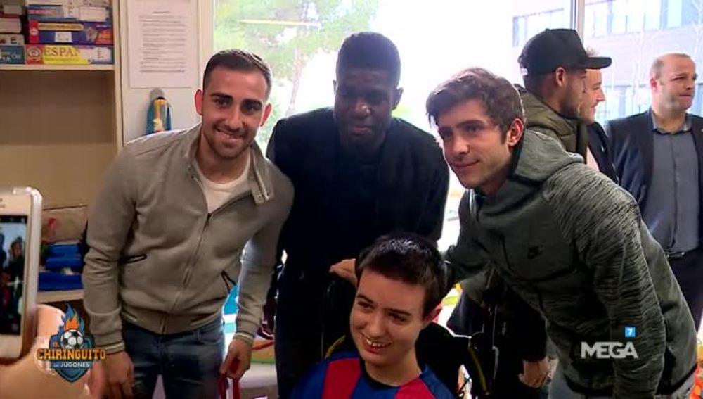 Jugadores del Barça en hospital de Barcelona