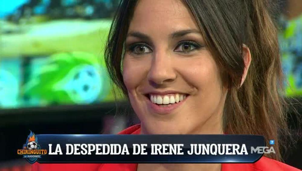 La despedida de Irene Junquera