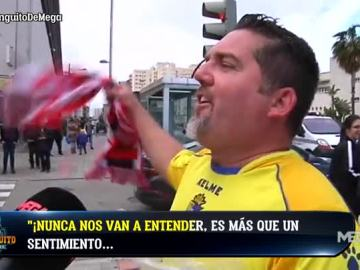 La afición del Cádiz, de primera división