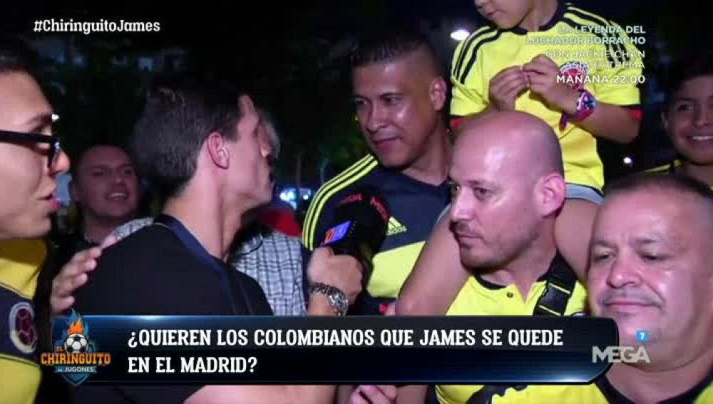 Los colombianos opinan sobre James