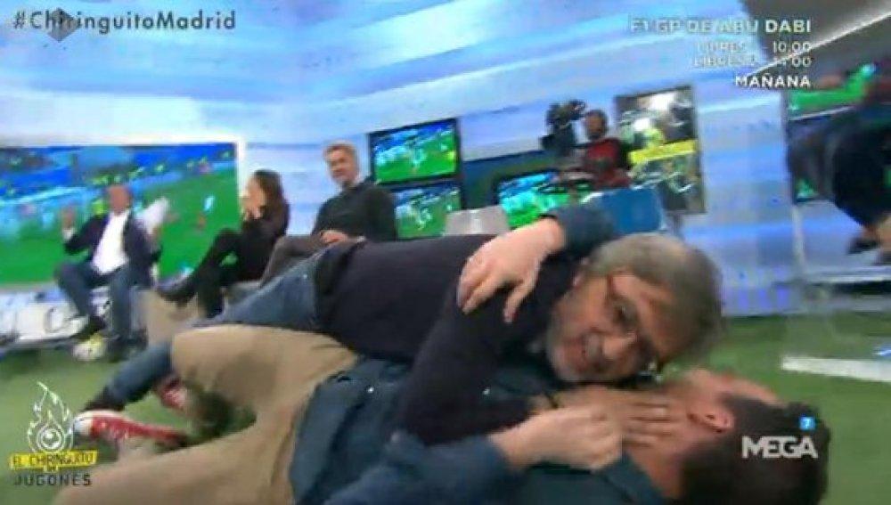José Dmaián González y Nacho Peña abrazo