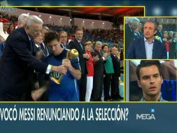 Debate en El Chiringuito sobre Messi y la selección argentina