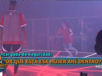 Alba Carreres, en el acto de Messi