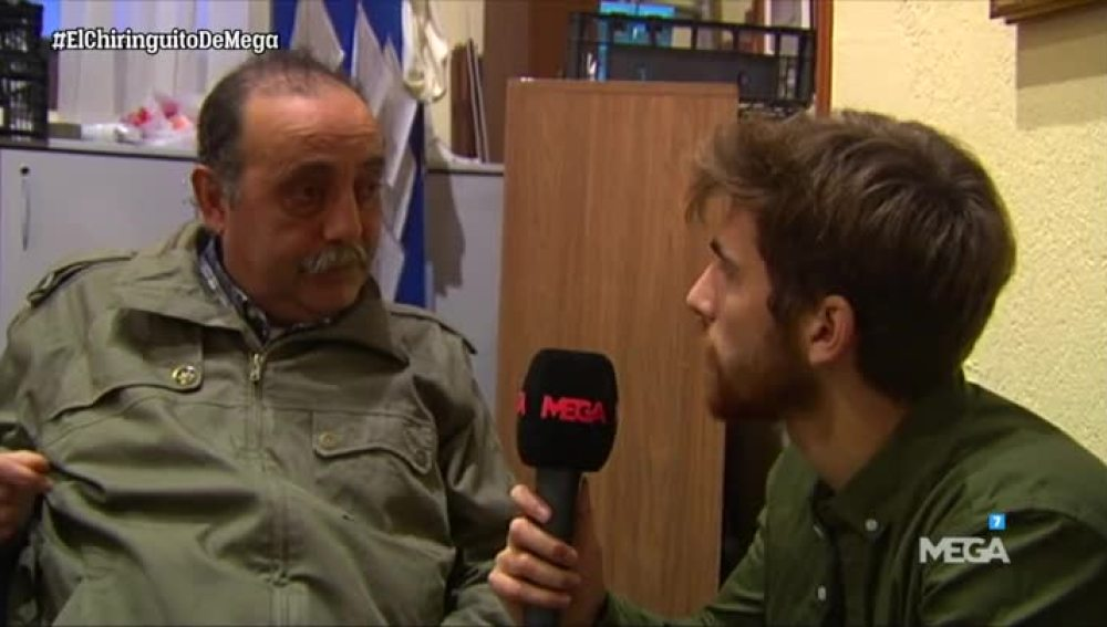 Pablo Martín, con la gente sin hogar