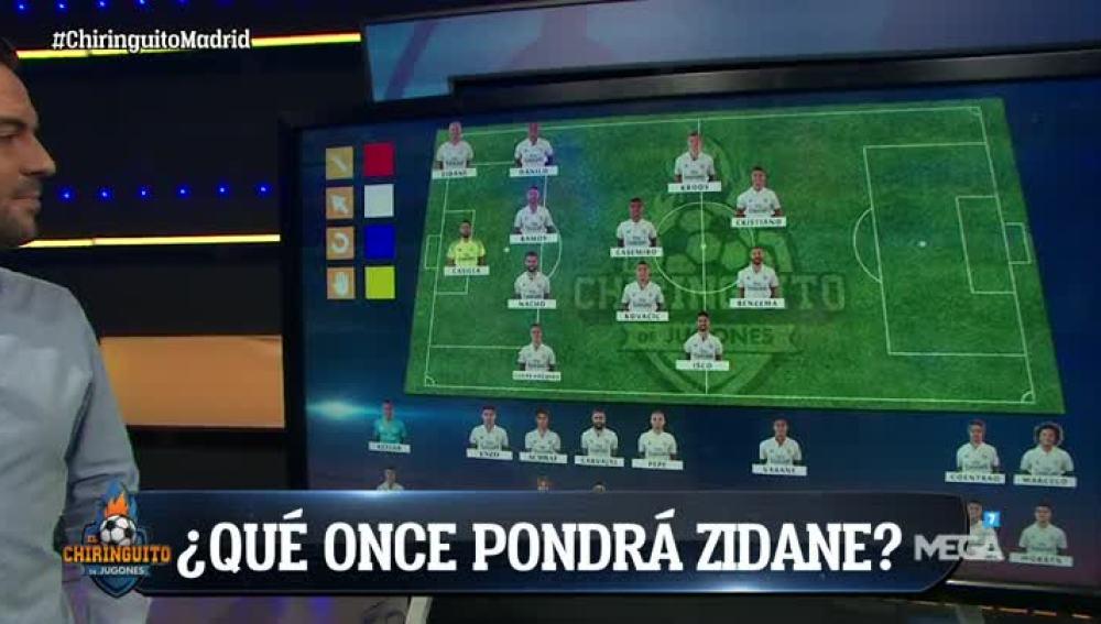 La alineación del Madrid ante el Celta
