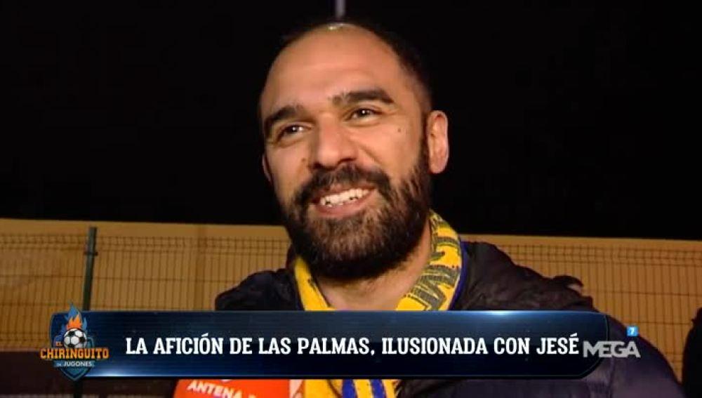 La afición de Las Palmas, ilusionada