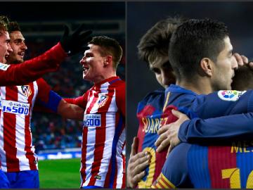 Atlético de Madrid y FC Barcelona