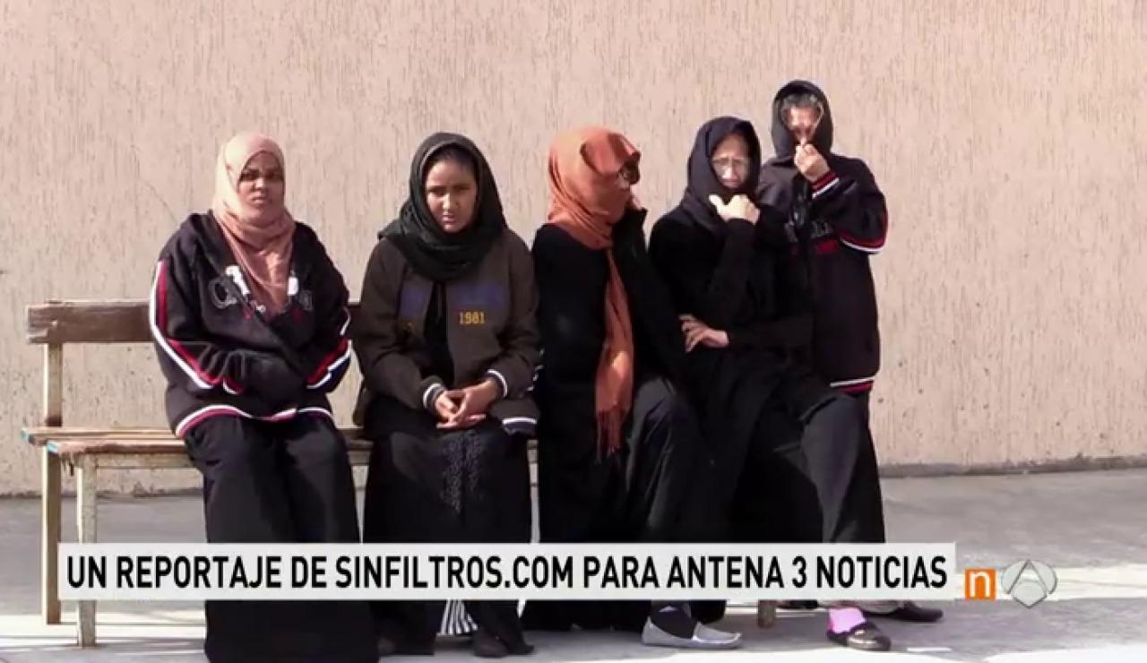 Frame 27.48 de: Así es la cárcel de Misurata, Libia, en la que viven presas 80 viudas de yihadistas
