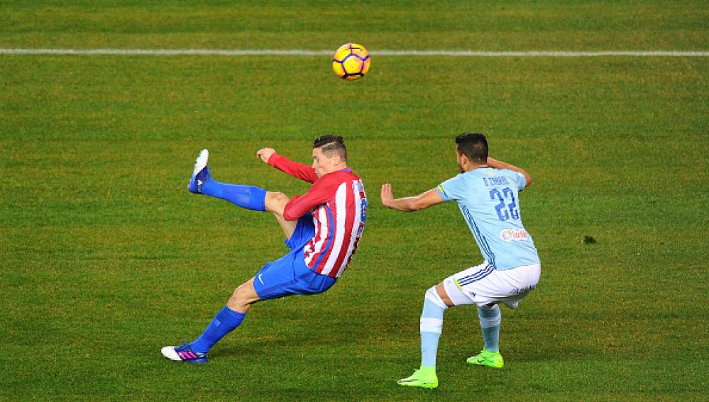 Gol de Torres contra el Celta