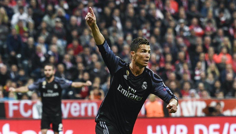 Cristiano Ronaldo celebrando uno de sus goles