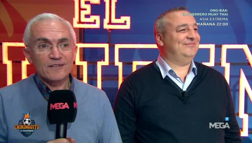 Paco García Cardidad, con el presidente de la UD Las Palmas