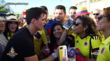 Edu Aguirre hace una encuesta con aficionados colombianos