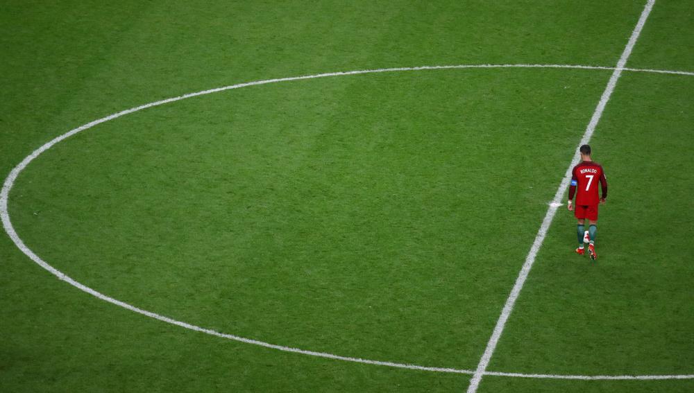 Cristiano Ronaldo, durante el Portugal - Chile de la Copa Confederaciones