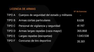 Estos son los tipos de licencias de armas que hay en España
